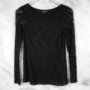 🔥NEW Tart Paisley Lace Stretch Knit Blouse Boho